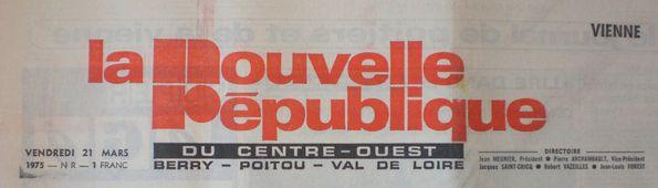 Logo NR 21 Mars 1975