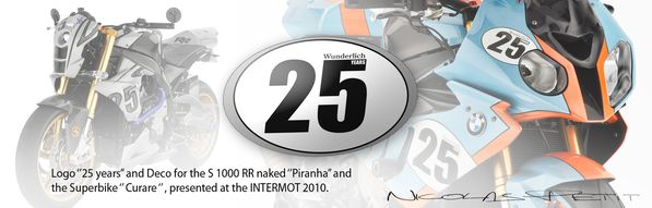 logo 25 years and deco s1000RR CURARE PIRANHA for wunderli