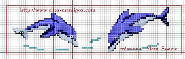 Marque-pages-serviette-dauphins-Mamigoz