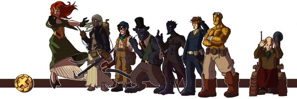 Steampunk X Men colors by ott01