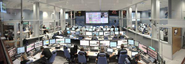 CNES - Toulouse - ATV-CC - Panoramique - Amarrage George Lemaître - Amarrage - Docking - Rendez-vous - Centre de contrôle