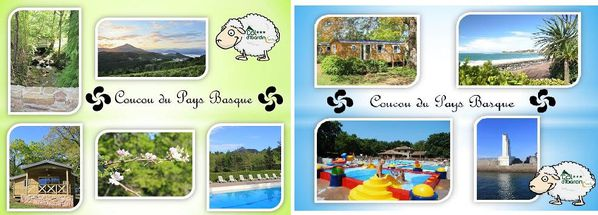 cartes postales camping col d ibardin au pays basque