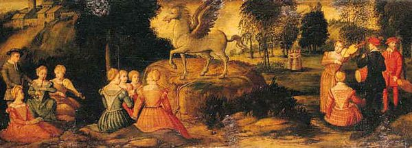 Romanino, Girolamo - Pegasus and the Muses - 1540s[1]