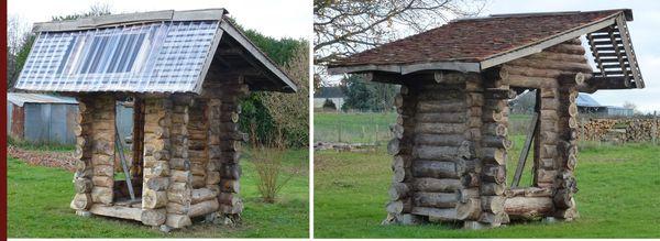 cabane extrieur - Table De Jardin En Rondin De Bois