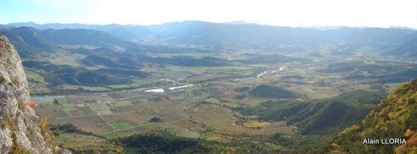 Vue sur la vallée côté Châtillon