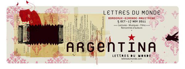 Afiiche festival Lettres du Monde