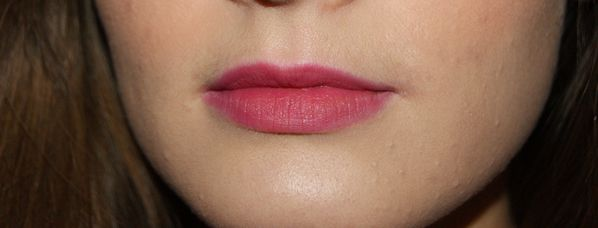 swatch after blossom rosy tint lips etude house