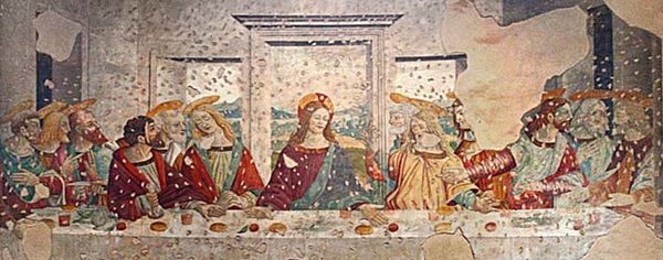 Copie de la Cène dans la Basilique de San Lorenzo, Milan.