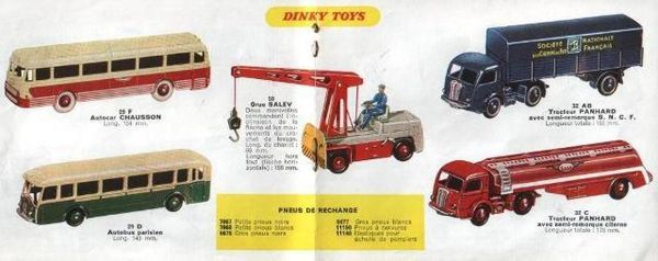 catalogue dinky toys automne 1958 p8 page centrale grue sal