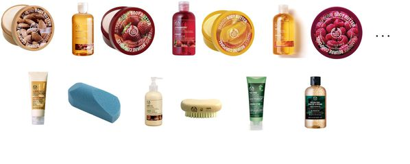 The Body Shop sélection
