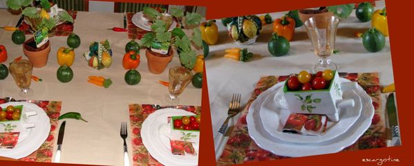 table légumes