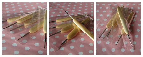 crochets à dentelles en bambou
