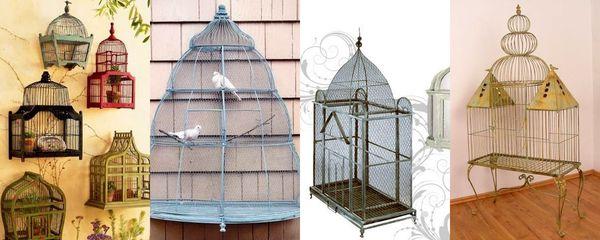 cages à oiseaux fer forgé
