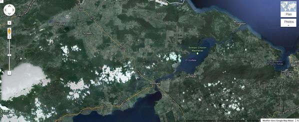 map rio dulce