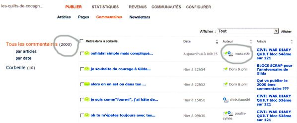 2000 commentaires
