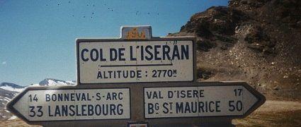 le-sommet-et passage-du-col-de-l-iseran 2770 m