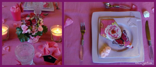collage table rose 5