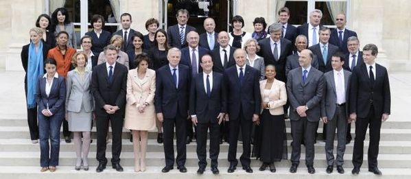 photo gouvernement ayrault hollande