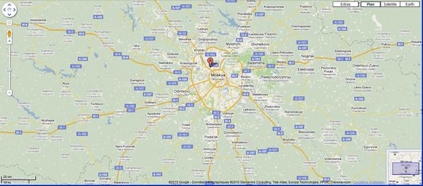 Google maps - Moscou - large