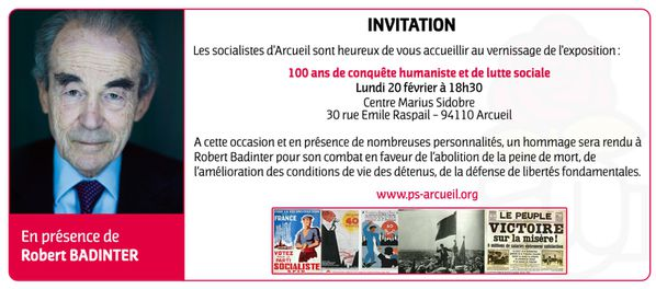 Invitation Robert Badinter