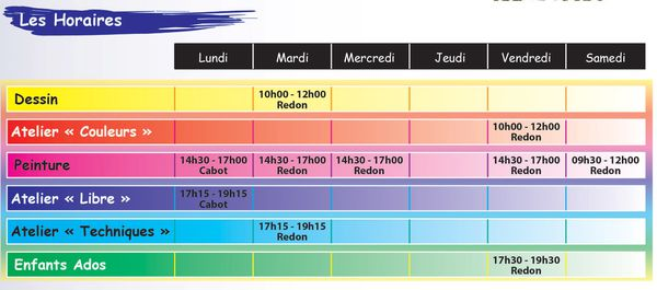 horaires'