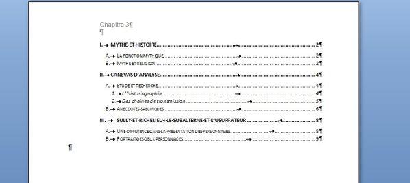 Sommaire et table des mati res c2i tuto - Exemple table des matieres ...