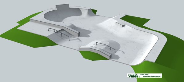 SDV Ablis Skatepark vue 1