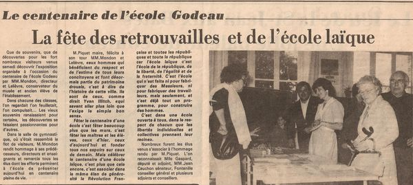 ecole godeau article