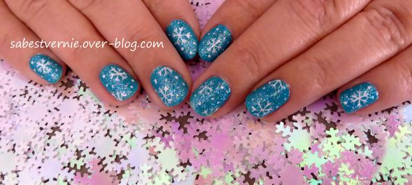 nail art flocon de neige snowflake 3