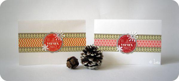 Scrap Inès Carte Voeux Fêtes Noël Nouvel An Masking tape