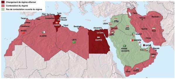Capture Ecran - lemondefr - Carte des révoltes dans le monde arabo musulman