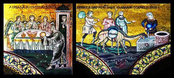 575d4 Monreale, Duomo. Histoire d'Abraham
