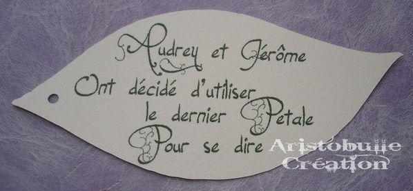 faire part Audrey & Jérôme 5