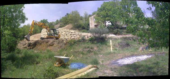 pano terrassement mur