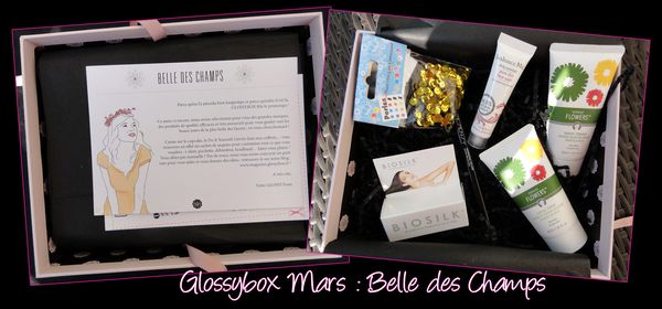 Glossybox mars belle des champs