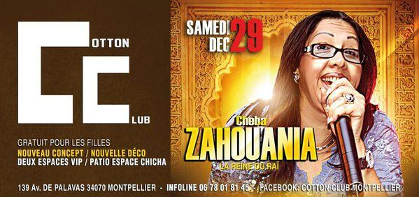 Le retour de la reine du Raï Cheba Zahouania au Cotton Club ce 29 décembre 2012