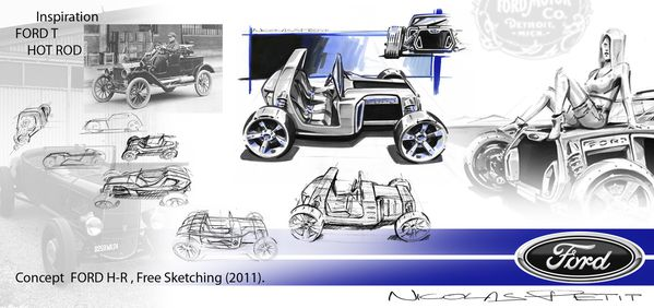 hot rod fort t concept sketch