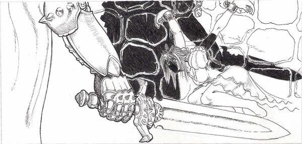 épée menace