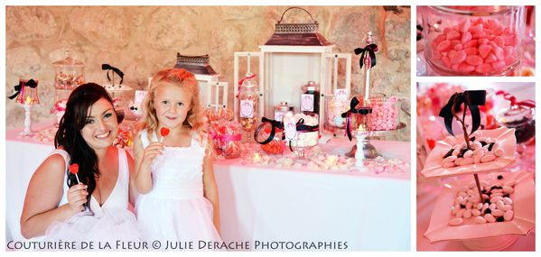 Candy Bar Boudoir Rose et Noir (10)
