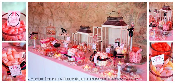 Candy Bar Boudoir Rose et Noir (6)