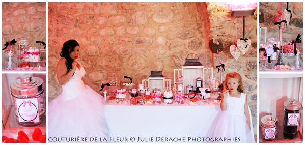 Candy Bar Boudoir Rose et Noir (8)