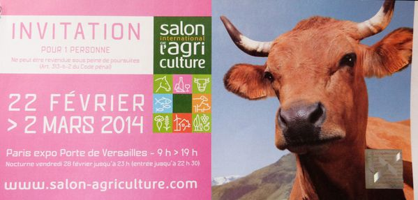 Reduction salon de l 39 agriculture 2014 - Salon de l agriculture invitation gratuite ...