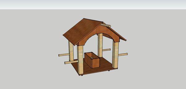 B tir sa maison moindre co t comment j 39 ai construit ma for Mangeoire sur pied pour oiseaux du jardin