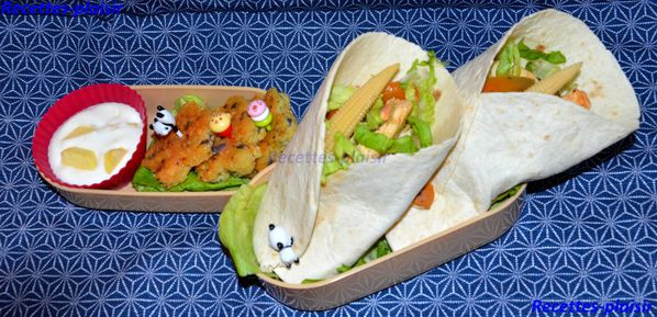 bento mexicain tortillas