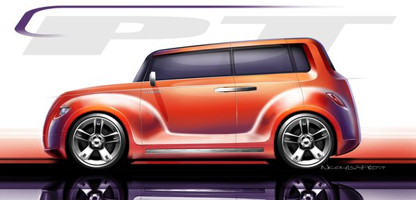 PT cruiser -Coupe-Concept-cartoonesque-