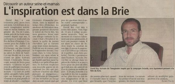 Article PAYS BRIARD 20111007