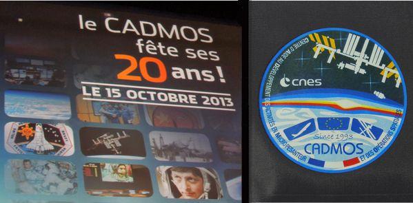 CNES - Anniversaire CADMOS - Affiche et badge - 20 ans - 15-10-2013