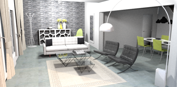 photo 3D salon entrée solution 1