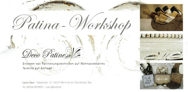 Patina Workshops, www.decopatine.de
