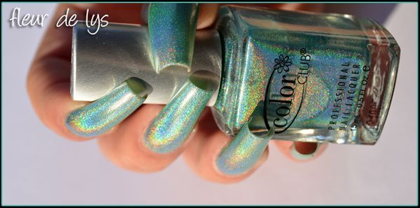 Vernis vert holographique